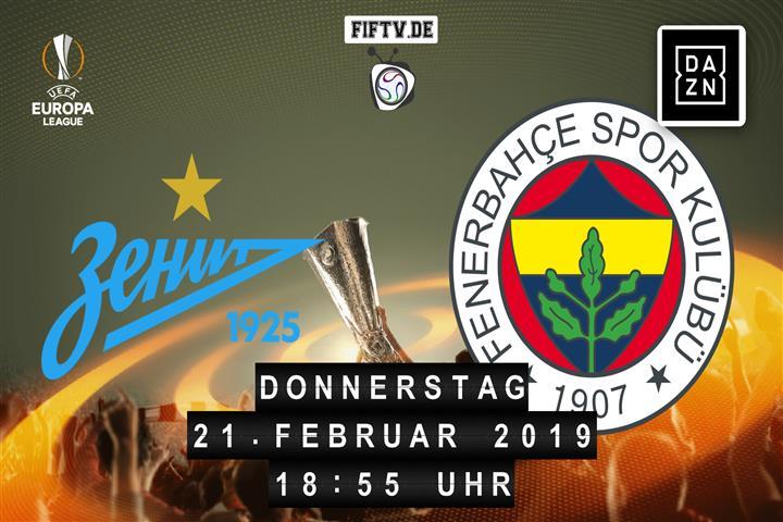 Zenit Sankt Petersburg - Fenerbahce Istanbul Spielankündigung