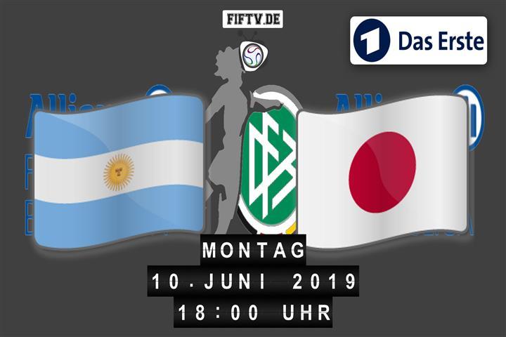 Argentinien - Japan Spielankündigung