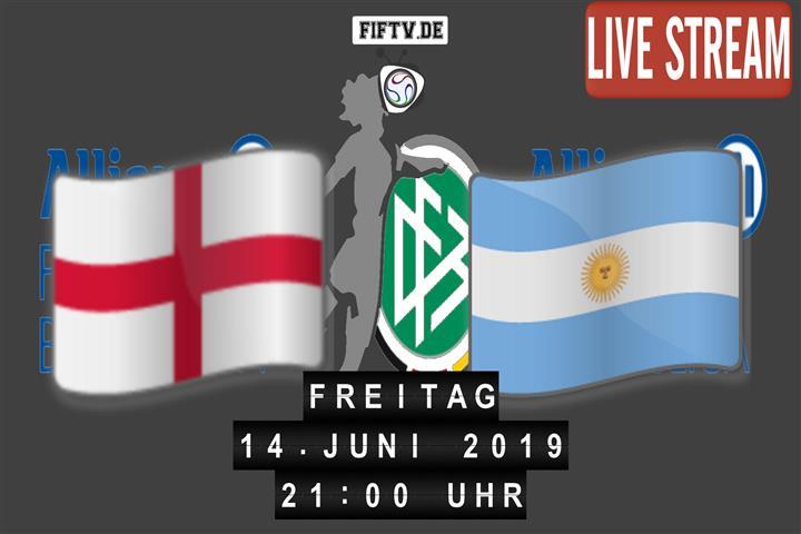England - Argentinien Spielankündigung