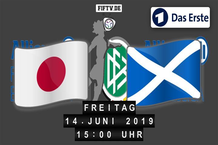 Japan - Schottland Spielankündigung