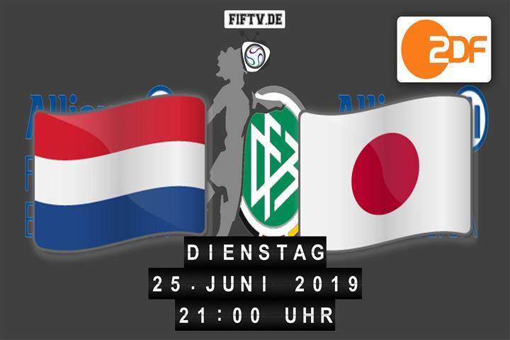 Niederlande - Japan Spielankündigung