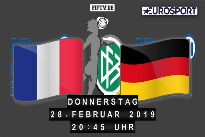 Frankreich - Deutschland Spielankündigung