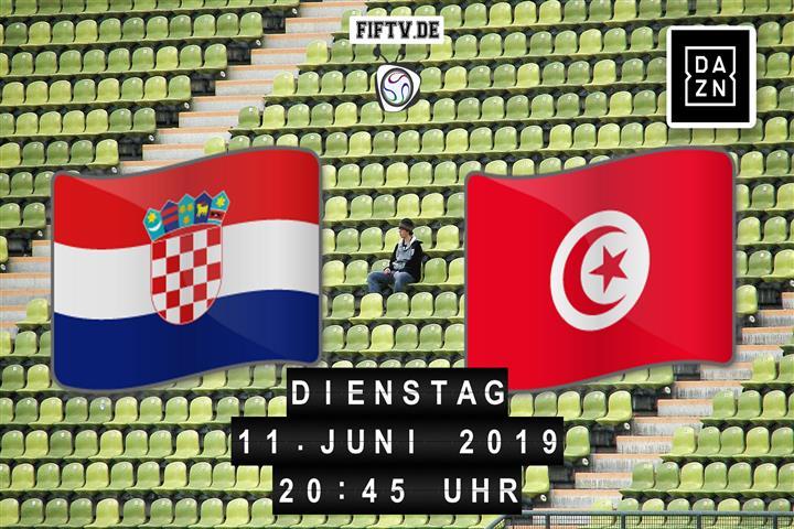 Kroatien - Tunesien Spielankündigung