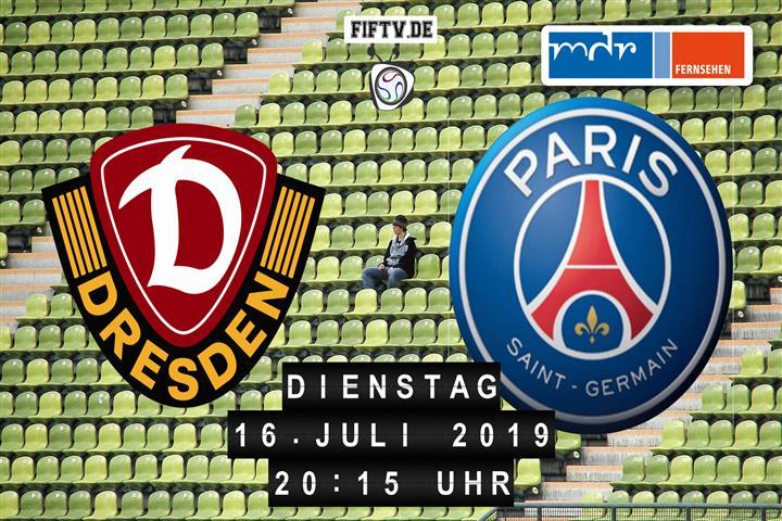 Dynamo Dresden - Paris Saint Germain Spielankündigung