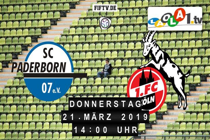 SC Paderborn 07 - 1. FC Köln Spielankündigung