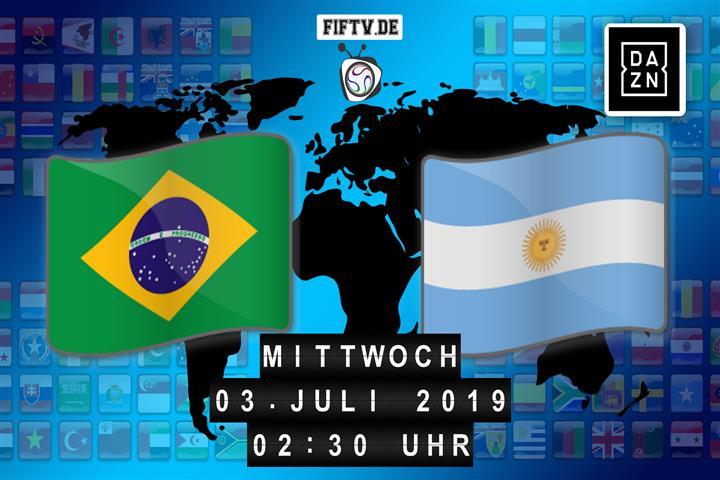 Brasilien - Argentinien Spielankündigung