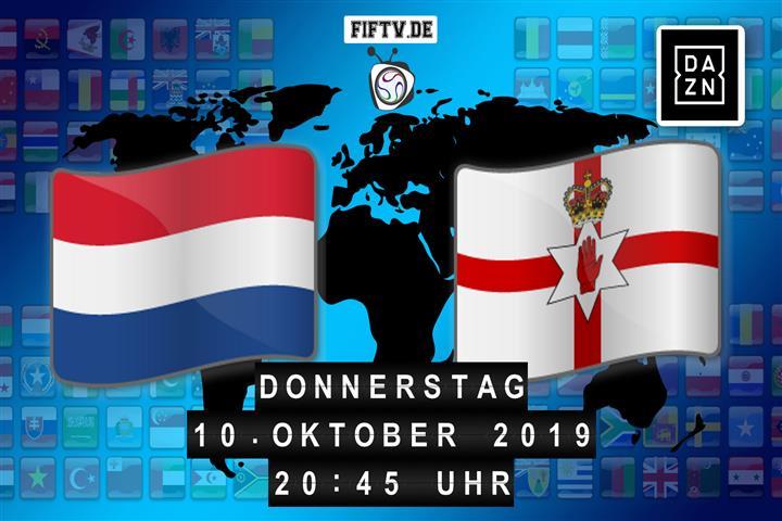 Niederlande - Nordirland Spielankündigung