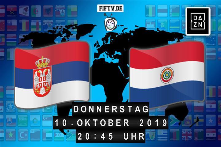 Serbien - Paraguay Spielankündigung