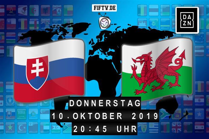 Slowakei - Wales Spielankündigung