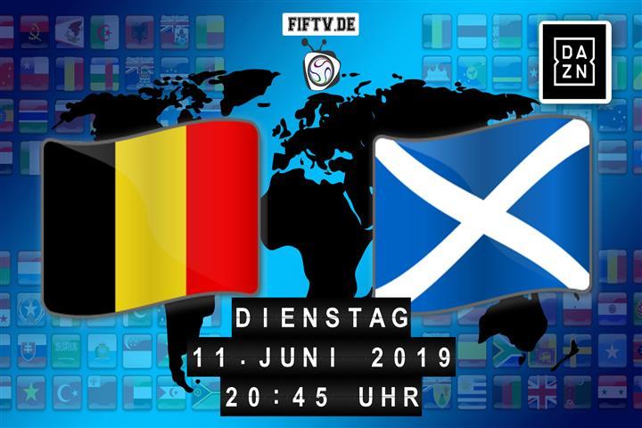 Belgien - Schottland Spielankündigung