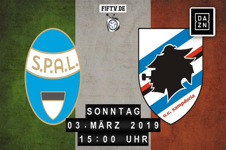 SPAL Ferrara - Sampdoria Genua Spielankündigung