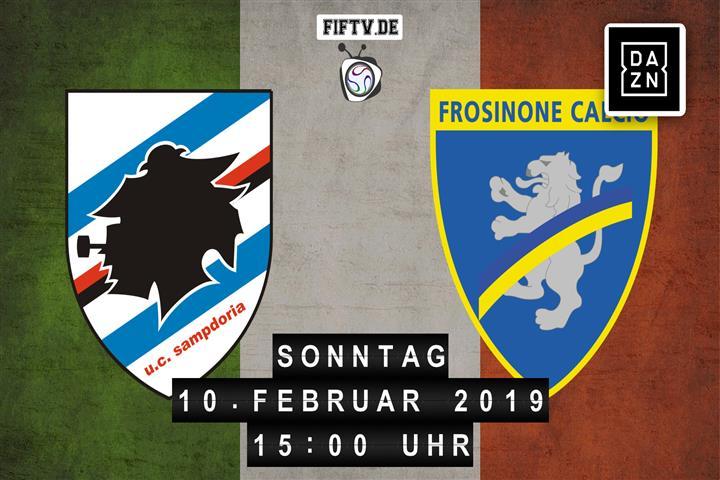 Sampdoria Genua - Frosinone Calcio Spielankündigung