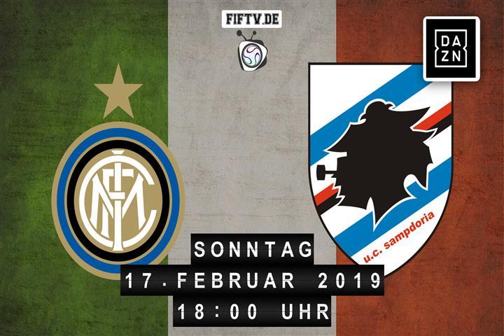 Inter Mailand - Sampdoria Spielankündigung