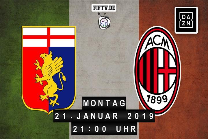 Genua - AC Mailand Spielankündigung