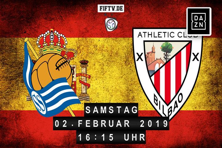 San Sebastian Real Sociedad - Athletic Club Bilbao Spielankündigung