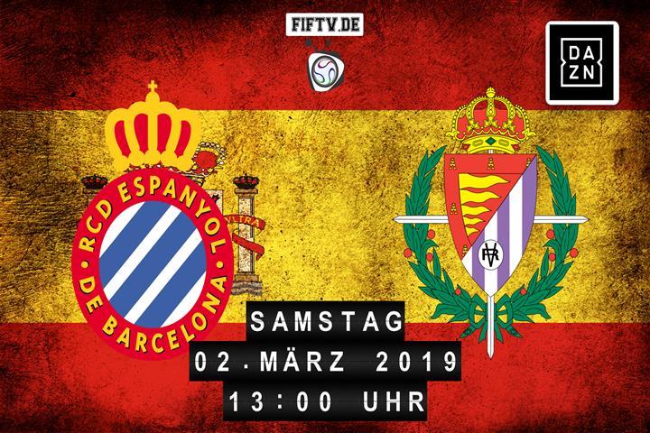 Espanyol Barcelona - Real Valladolid Spielankündigung