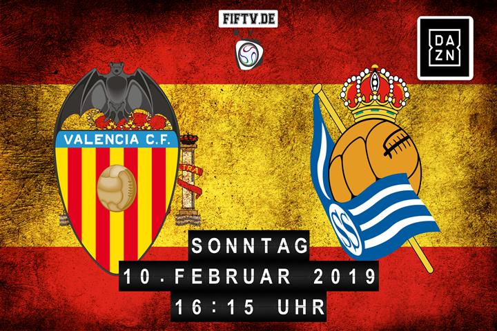 Valencia FC - San Sebastian Real Sociedad Spielankündigung