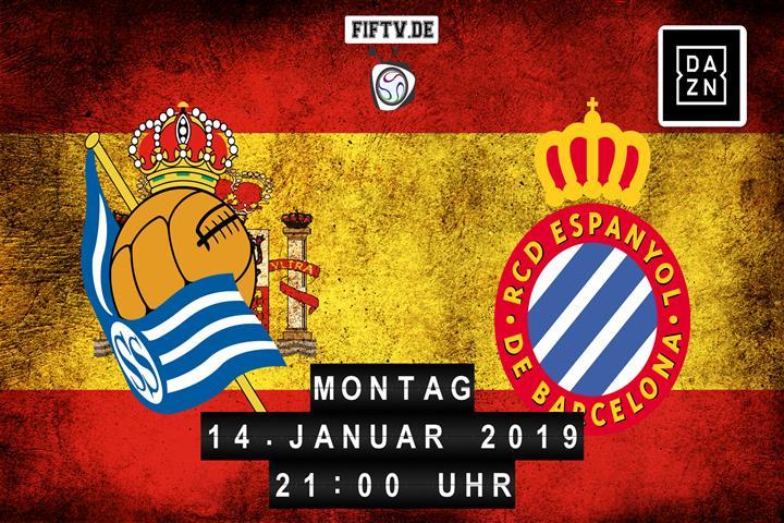 San Sebastian Real Sociedad - Espanyol Barcelona Spielankündigung