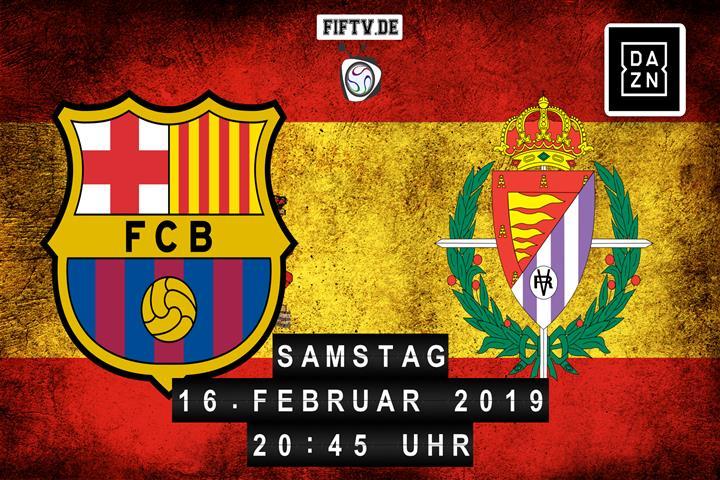 FC Barcelona - Real Valladolid Spielankündigung