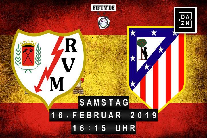 Rayo Vallecano - Atletico Madrid Spielankündigung