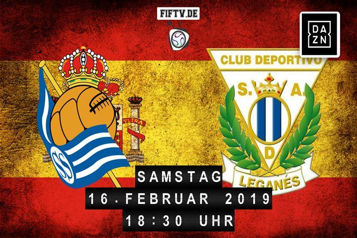 San Sebastian Real Sociedad - CD Leganes Spielankündigung