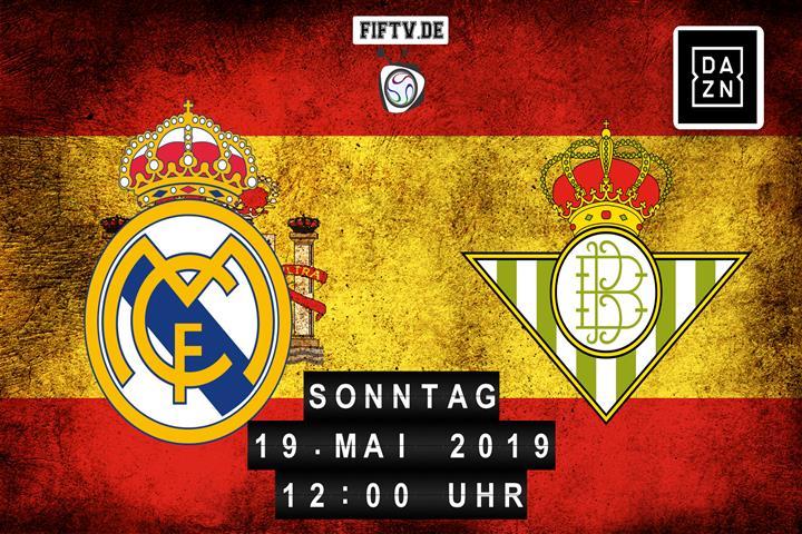 Real Madrid - Real Betis Balompie Sevilla Spielankündigung