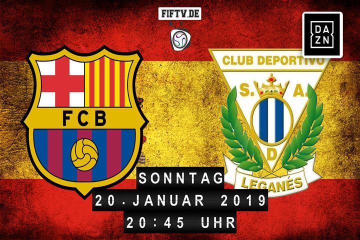 FC Barcelona - CD Leganes Spielankündigung