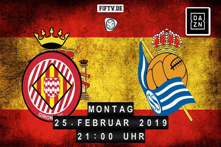 FC Girona - San Sebastian Real Sociedad Spielankündigung