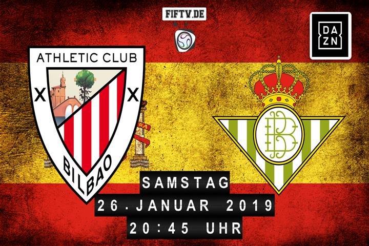 Athletic Club Bilbao - Real Betis Balompie Sevilla Spielankündigung