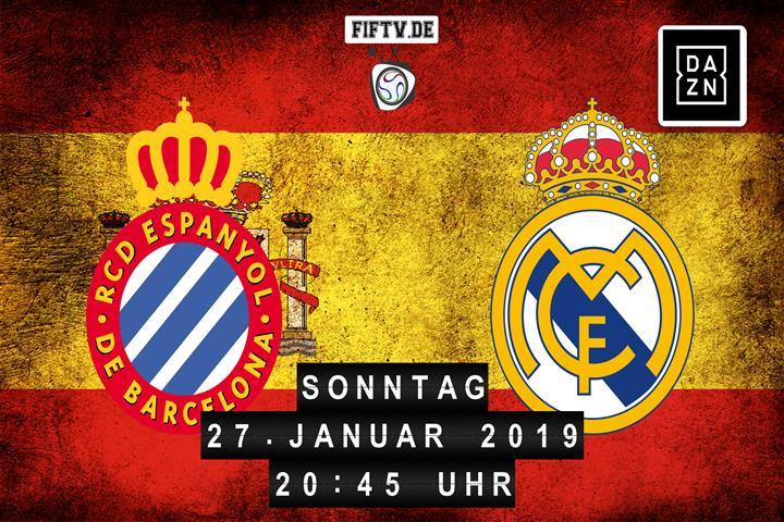 Espanyol Barcelona - Real Madrid Spielankündigung