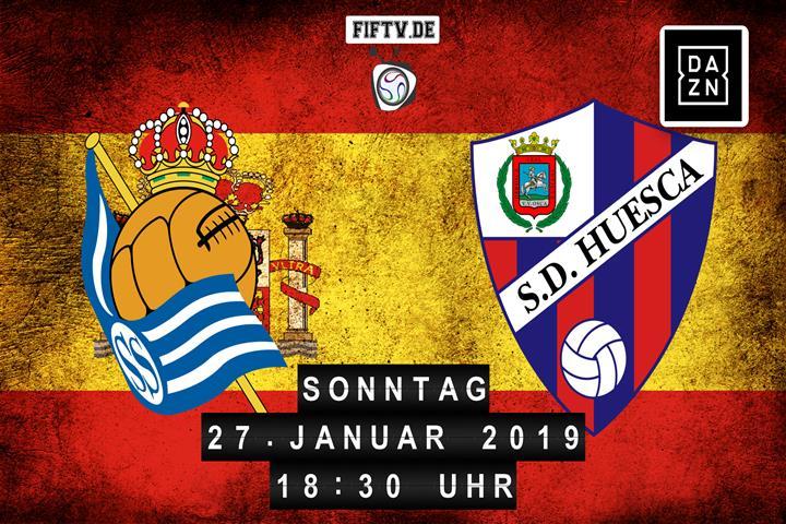 San Sebastian Real Sociedad - SD Huesca Spielankündigung