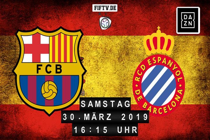 FC Barcelona - Espanyol Barcelona Spielankündigung