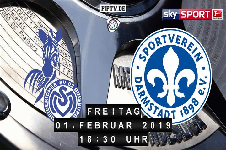MSV Duisburg - Darmstadt 98 Spielankündigung
