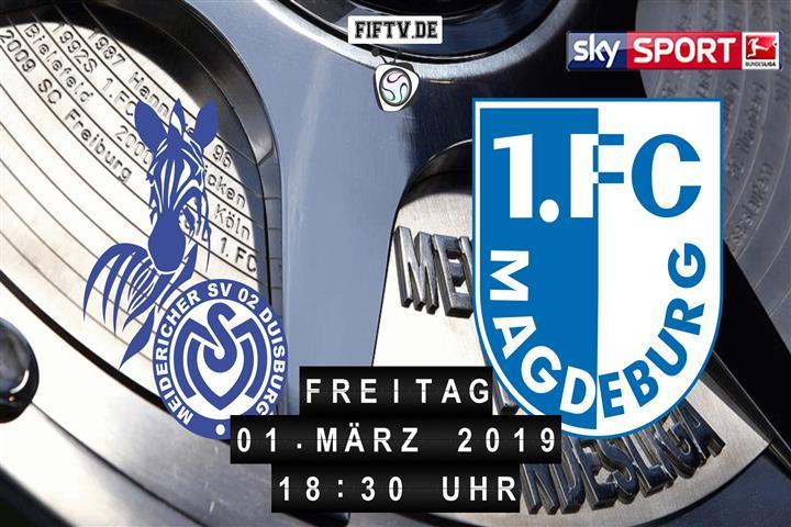 MSV Duisburg - 1.FC Magdeburg Spielankündigung