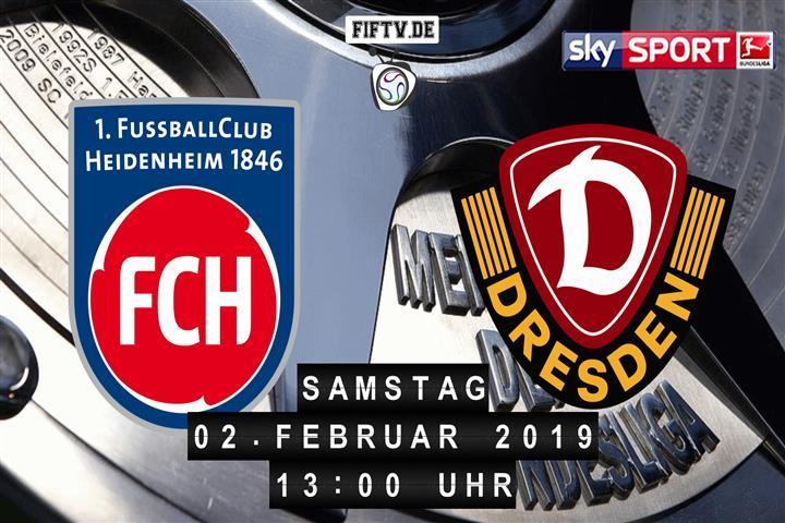 1.FC Heidenheim - Dynamo Dresden Spielankündigung