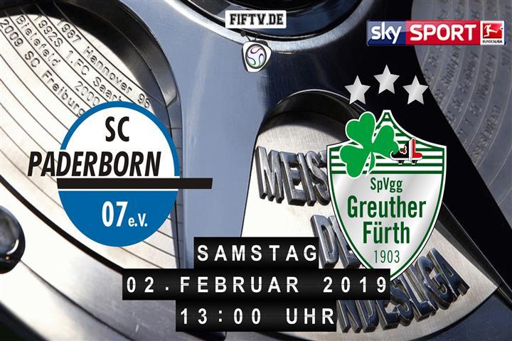 SC Paderborn 07 - SpVgg Greuther Fürth Spielankündigung