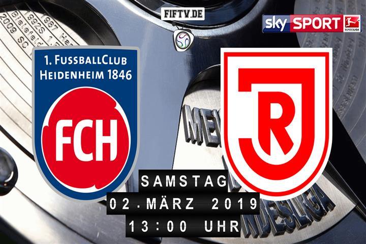 1.FC Heidenheim - Jahn Regensburg Spielankündigung