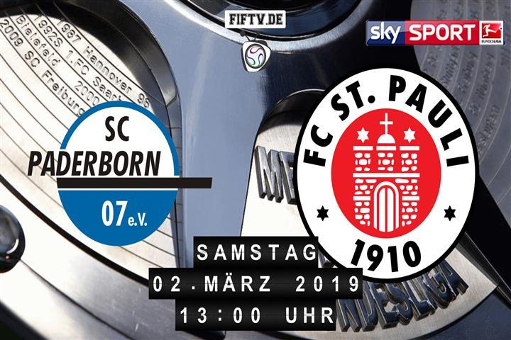 SC Paderborn 07 - FC St. Pauli Spielankündigung