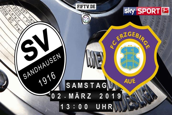 SV Sandhausen - Erzgebirge Aue Spielankündigung