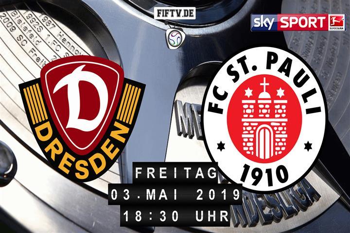 Dynamo Dresden - FC St. Pauli Spielankündigung