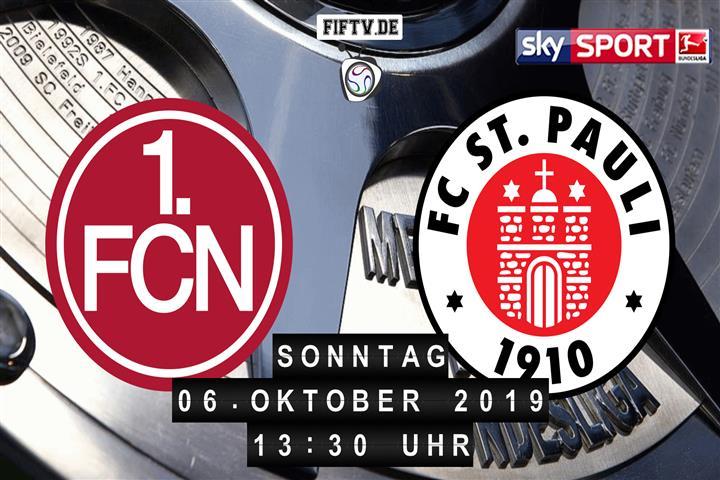 1.FC Nürnberg - FC St. Pauli Spielankündigung
