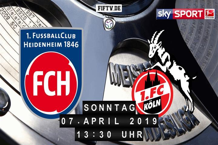 1.FC Heidenheim - 1.FC Köln Spielankündigung