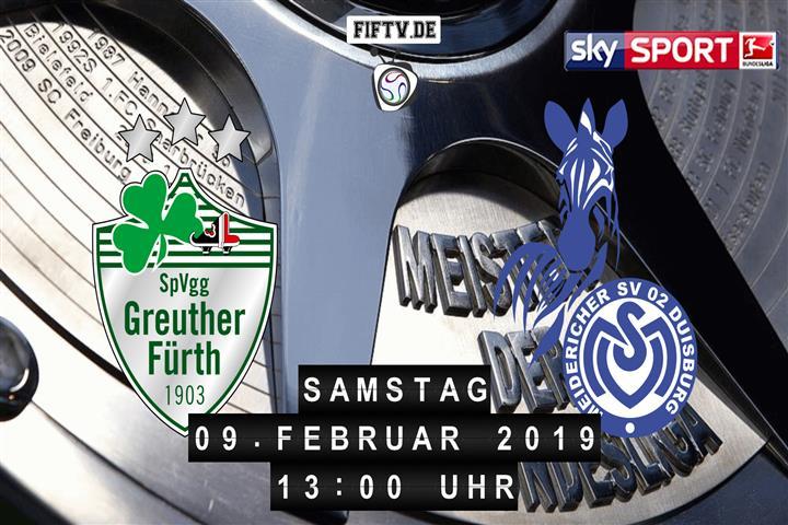 SpVgg Greuther Fürth - MSV Duisburg Spielankündigung
