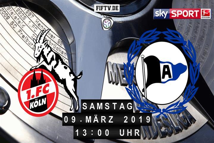 1.FC Köln - Arminia Bielefeld Spielankündigung