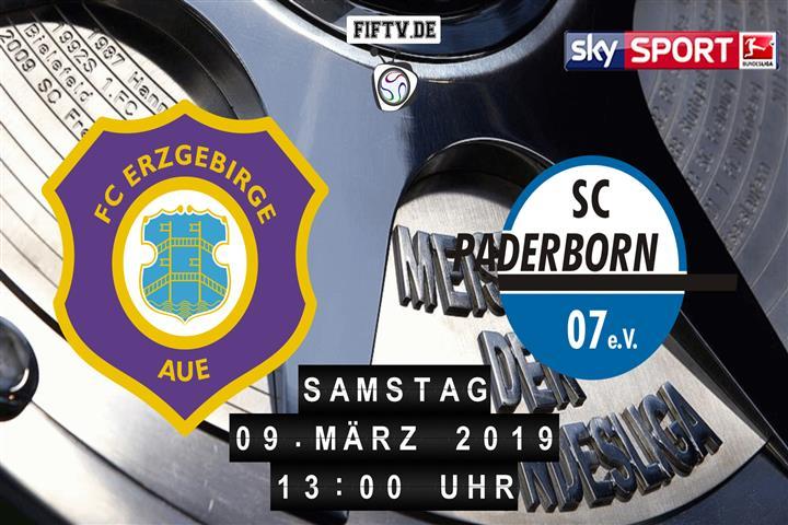 Erzgebirge Aue - SC Paderborn 07 Spielankündigung