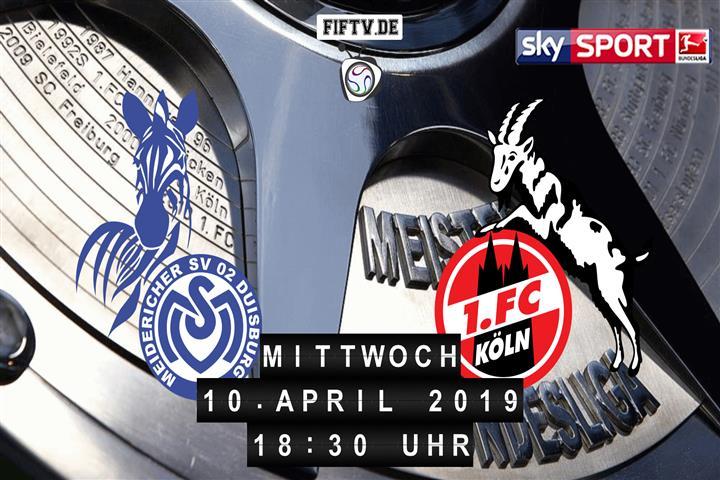 MSV Duisburg - 1.FC Köln Spielankündigung