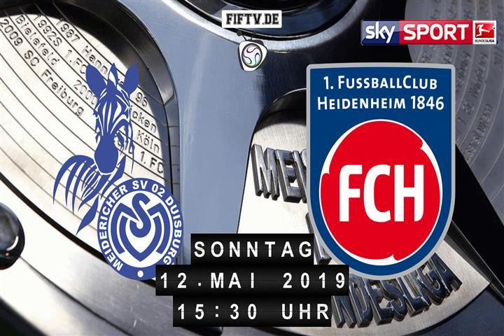 MSV Duisburg - 1.FC Heidenheim Spielankündigung
