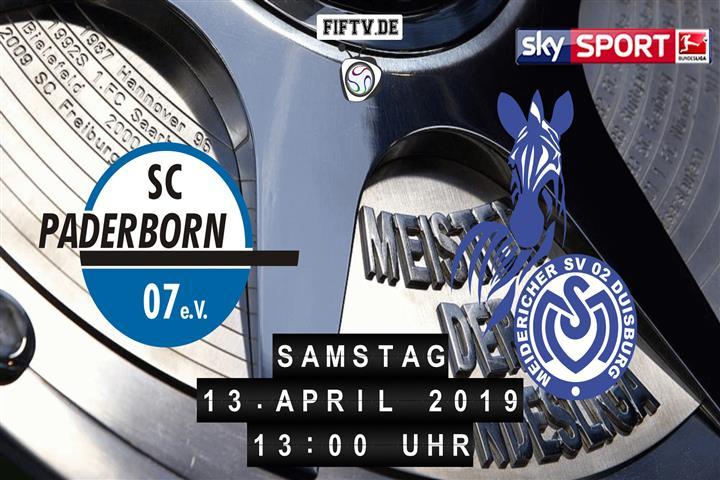 SC Paderborn 07 - MSV Duisburg Spielankündigung