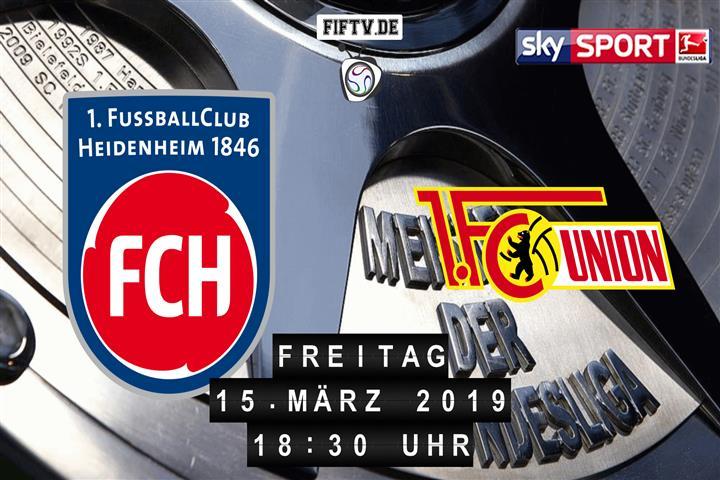 1.FC Heidenheim - Union Berlin Spielankündigung