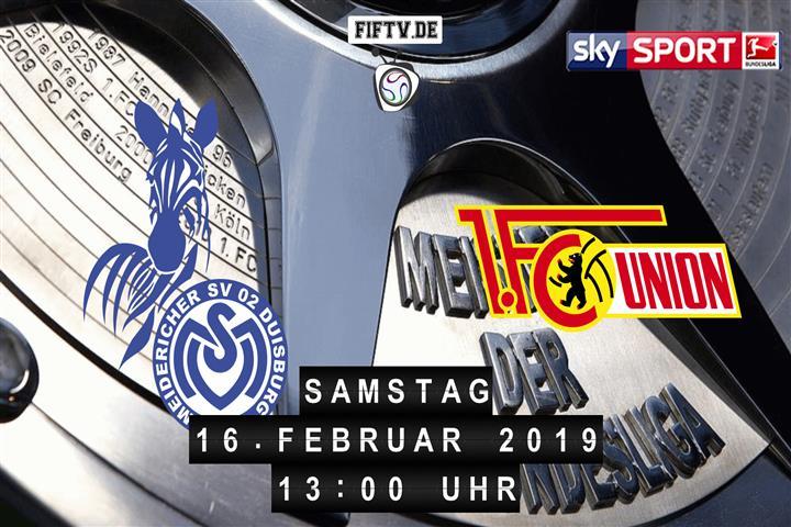 MSV Duisburg - Union Berlin Spielankündigung
